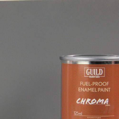 Guild Materials Matt Dark Grey Enamel Fuel-Proof Paint (125ml Tin) GLDCHR6311